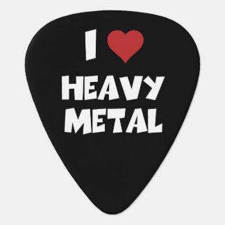 Amo la púa de guitarra de metales pesados