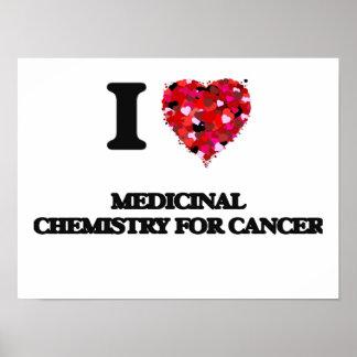 Amo la química medicinal para el cáncer póster