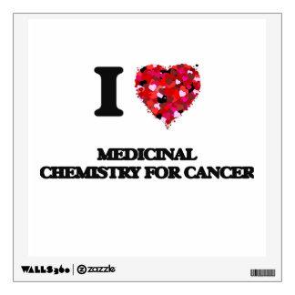 Amo la química medicinal para el cáncer vinilo adhesivo