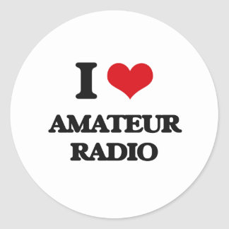 Amo la radio aficionada etiqueta redonda