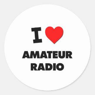Amo la radio aficionada pegatinas redondas