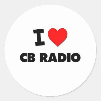 Amo la radio CB Pegatinas Redondas