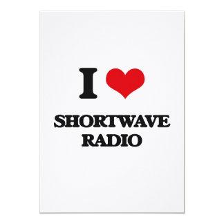 Amo la radio de la onda corta invitación 12,7 x 17,8 cm