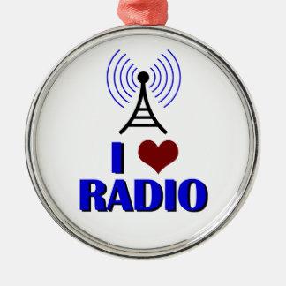 Amo la radio ornamento de reyes magos