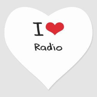 Amo la radio colcomanias de corazon personalizadas