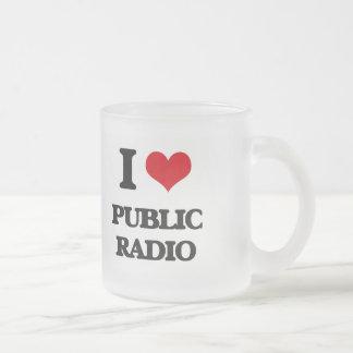 Amo la radio pública taza cristal mate