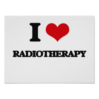 Amo la radioterapia impresiones