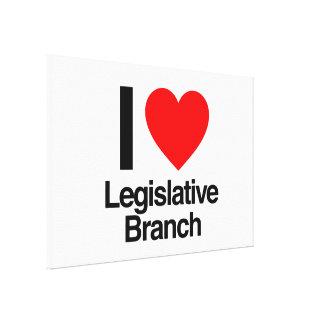 amo la rama legislativa impresión de lienzo