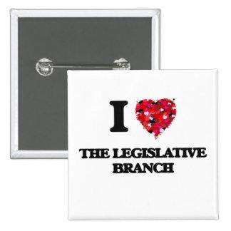 Amo la rama legislativa pin cuadrada 5 cm