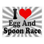 Amo la raza del huevo y de la cuchara postal