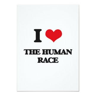 """Amo la raza humana invitación 5"""" x 7"""""""