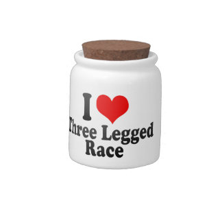 Amo la raza Legged tres Platos Para Caramelos