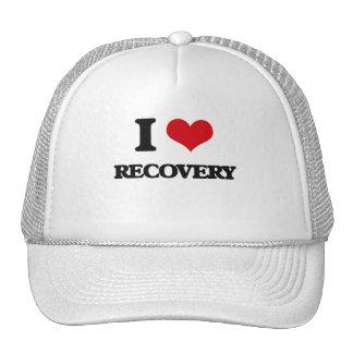 Amo la recuperación gorros bordados