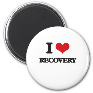 Amo la recuperación imán redondo 5 cm
