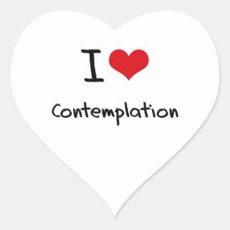 Amo la reflexión colcomanias de corazon
