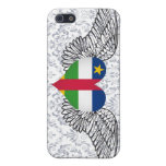 Amo la República Centroafricana - alas iPhone 5 Fundas