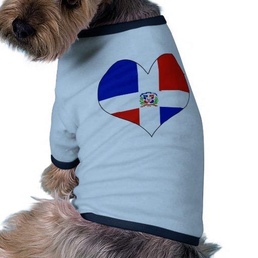 Amo la República Dominicana Camisetas De Mascota