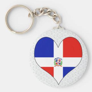 Amo la República Dominicana Llavero Redondo Tipo Pin