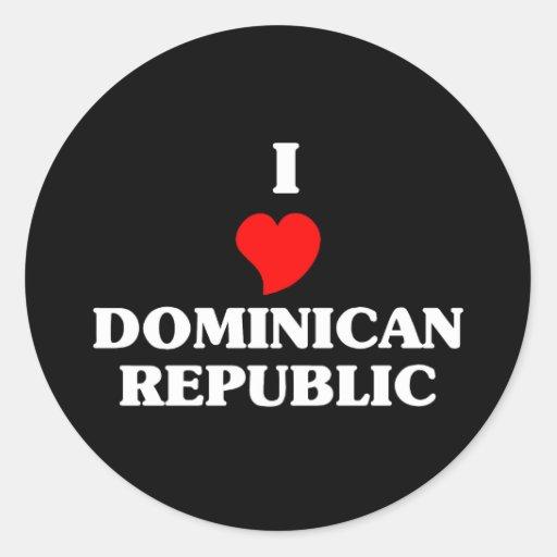 Amo la República Dominicana Pegatina