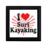 Amo la resaca Kayaking Cajas De Recuerdo