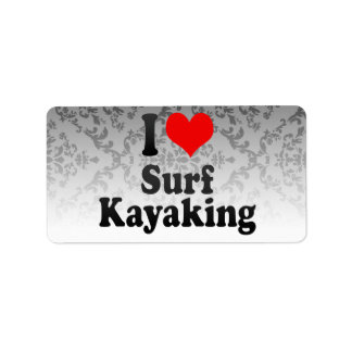 Amo la resaca Kayaking Etiqueta De Dirección