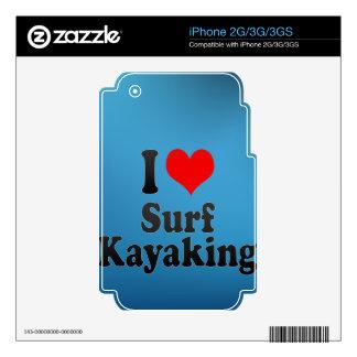Amo la resaca Kayaking Calcomanía Para iPhone 3G