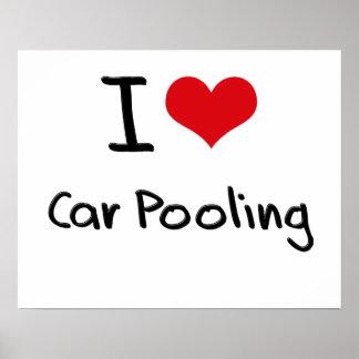 Amo la reunión del coche poster