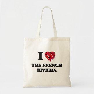Amo la riviera francesa bolsa tela barata