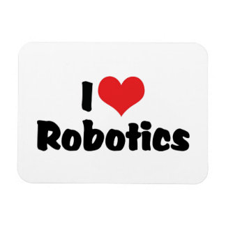 Amo la robótica del corazón - amante del robot rectangle magnet
