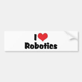 Amo la robótica pegatina para auto
