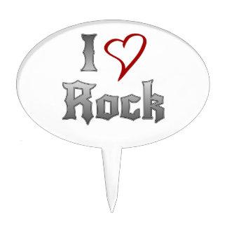 Amo la roca decoración de tarta