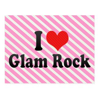 Amo la roca atractiva tarjetas postales