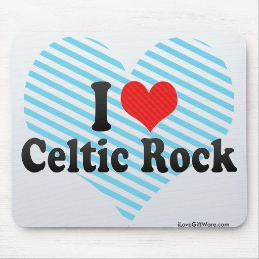 Amo la roca céltica mouse pad