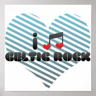 Amo la roca céltica posters