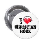 Amo la roca cristiana pin