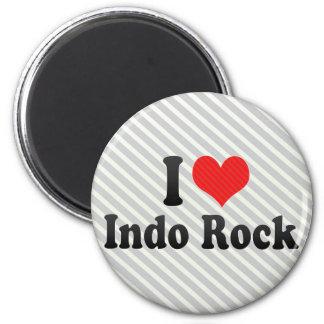 Amo la roca de Indo Iman Para Frigorífico