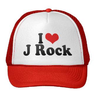 Amo la roca de J Gorros Bordados