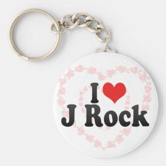 Amo la roca de J Llavero Personalizado