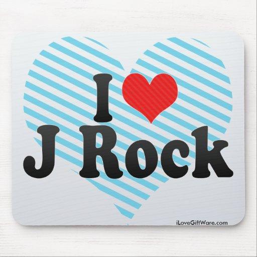 Amo la roca de J Mouse Pads