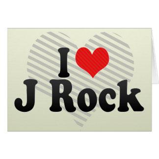 Amo la roca de J Felicitaciones