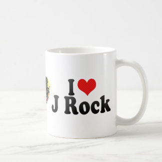 Amo la roca de J Tazas De Café