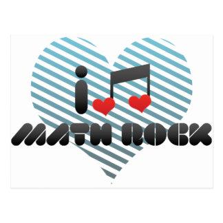 Amo la roca de la matemáticas postales