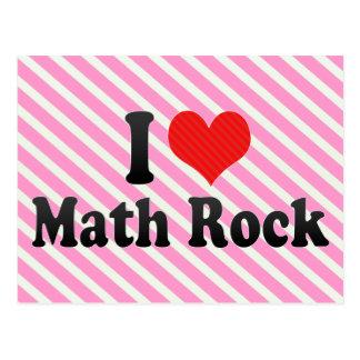 Amo la roca de la matemáticas postal