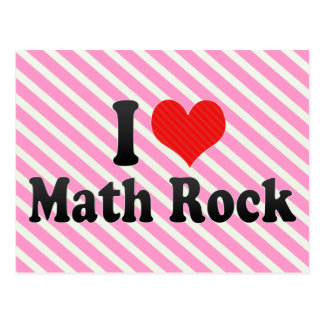 Amo la roca de la matemáticas tarjetas postales