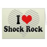 Amo la roca del choque tarjetón
