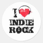 Amo la roca del indie etiquetas redondas