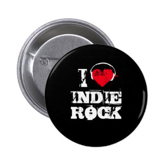 Amo la roca del indie pin redondo 5 cm