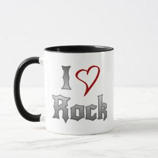 Amo la roca taza