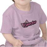 Amo la ropa del bebé de los gatos camiseta