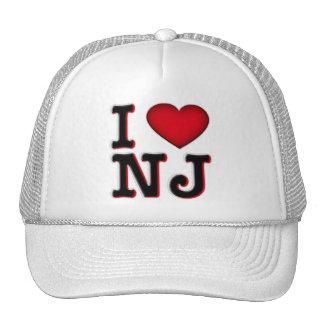 Amo la ropa y la mercancía de NJ Gorra